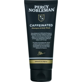 Percy Nobleman Hair sampon pe baza de cofeina pentru barbati pentru corp si par imagine 2021 notino.ro