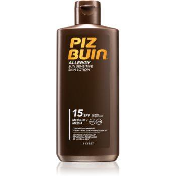 Piz Buin Allergy lotiune de plaja pentru pielea sensibila SPF 15 imagine 2021 notino.ro