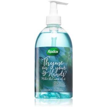 Radox Thyme on your hands? săpun lichid antibacterial imagine 2021 notino.ro