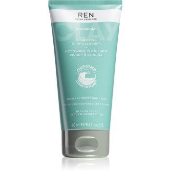 REN ClearCalm Clarifying Clay Cleanser produs de curățare pentru piele sensibilă imagine 2021 notino.ro