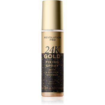 Revolution PRO 24k Gold spray pentru fixare și strălucire cu aur imagine 2021 notino.ro