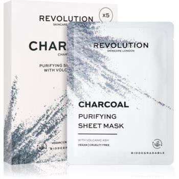Revolution Skincare Purifying Charcoal set de măști textile pentru ten gras si problematic imagine 2021 notino.ro