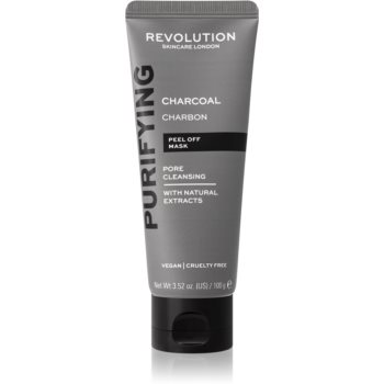 Revolution Skincare Purifying Charcoal masca exfolianta impotriva punctelor negre, cu carbune activ image0