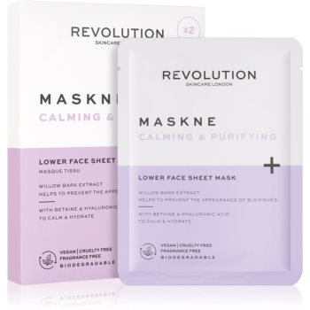 Revolution Skincare Maskcare Maskne Calming & Purifying masca profund reparatorie pentru piele sensibila si iritabila imagine 2021 notino.ro