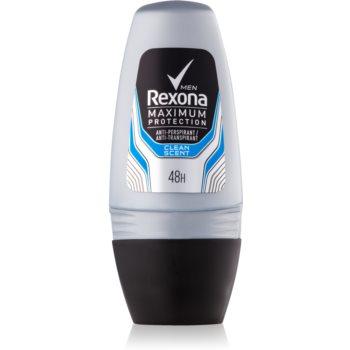 Rexona Maximum Protection Clean Scent deodorant roll-on antiperspirant pentru barbati imagine 2021 notino.ro
