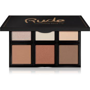 Rude Cosmetics Face Palette Audacious paletă de farduri pentru obraji imagine 2021 notino.ro