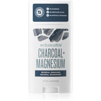 Schmidt's Charcoal + Magnesium deodorant stick pentru toate tipurile de piele imagine 2021 notino.ro
