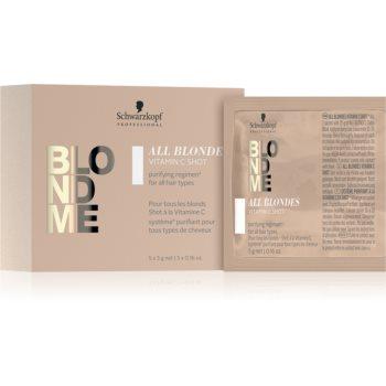 Schwarzkopf Professional Blondme All Blondes Vitamin C Shot vitamínový koncentrát pro blond a melíro