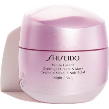 Shiseido White Lucent Overnight Cream & Mask mască și cremă de noapte hidratantă impotriva petelor imagine 2021 notino.ro