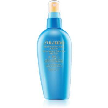 Shiseido Sun Care Sun Protection Spray Oil-Free spray pentru bronzat SPF 15 imagine 2021 notino.ro