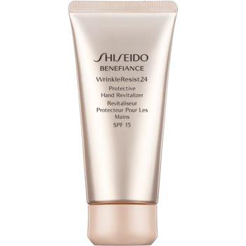Shiseido Benefiance WrinkleResist24 Protective Hand Revitalizer cremă de mâini pentru protecție și regenerare SPF 15 notino.ro