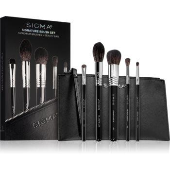 Sigma Beauty Signature Brush Set set de pensule cu geantă imagine 2021 notino.ro