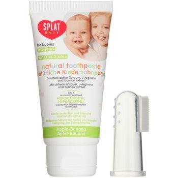 Splat Baby Pastă de dinți naturală pentru copii cu perie de masaj imagine 2021 notino.ro