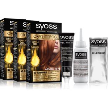 Syoss Oleo Intense Culoare permanenta pentru par 6-76 Warm Copper (ambalaj economic) culoare imagine 2021 notino.ro