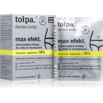 Tołpa Dermo Body Max Efekt servetele pentru curatare cu efect exfoliant notino.ro