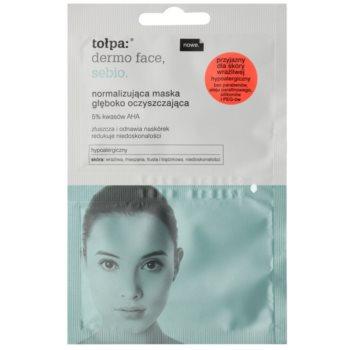 Tołpa Dermo Face Sebio Mască de normalizare și curățare profundă pentru pielea cu imperfectiuni imagine 2021 notino.ro