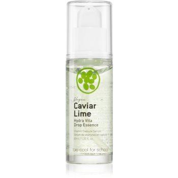 Too Cool For School Caviar Lime Hydra Vita Drop Essence esenta faciala pentru luminozitate si hidratare image0