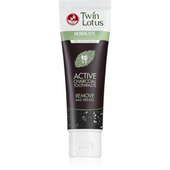 Twin Lotus Herbaliste Active Charcoal pastă de dinți cu extract din plante fara flor imagine 2021 notino.ro