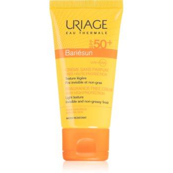 Uriage Bariésun Fragrance-Free Cream SPF 50+ crema pentru bronzat, fara parfum SPF 50+ imagine 2021 notino.ro