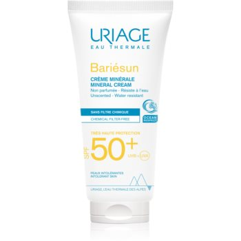 Uriage Bariésun Mineral Cream SPF 50+ crema de fata cu minerale pentru protectie SPF 50+ imagine 2021 notino.ro