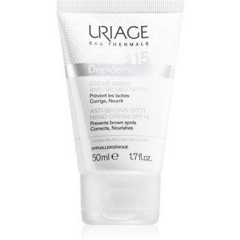 Uriage Dépiderm Anti-Brown Spot Hand Cream SPF 15 crema de maini impotriva petelor pigmentate SPF 15 imagine 2021 notino.ro