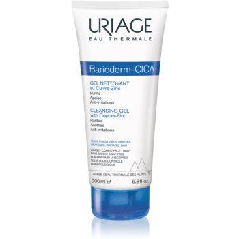 Uriage Bariéderm Cleansing Cica-Gel with Cu-Zn gel calmant de curatare pe pielea crapata notino.ro