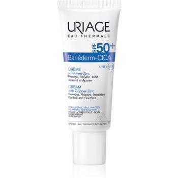 Uriage Bariéderm Cica-Cream with Copper-Zinc SPF 50+ cremă reparatoare cu cupru și zinc SPF 50+ imagine 2021 notino.ro