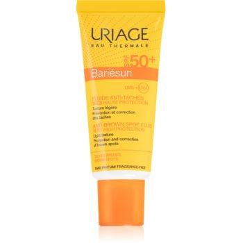 Uriage Bariésun Anti-Brown Spot Fluid SPF 50+ protective fluid cu o protectie UV ridicata imagine 2021 notino.ro