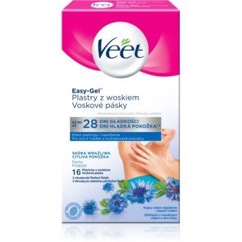 Veet Easy-Gel benzi depilatoare cu ceară, pentru axile pentru piele sensibila imagine 2021 notino.ro