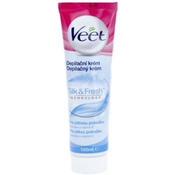 Veet Silk & Fresh crema depilatoare pentru picioare pentru piele sensibila imagine 2021 notino.ro
