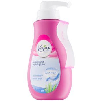 Veet Silk & Fresh crema depilatoare pentru piele sensibila imagine 2021 notino.ro