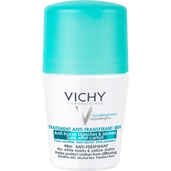 Vichy Deodorant antiperspirant roll-on impotriva petelor albe si galbene imagine 2021 notino.ro