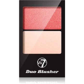 W7 Cosmetics Duo Blusher blush cu pensula imagine 2021 notino.ro