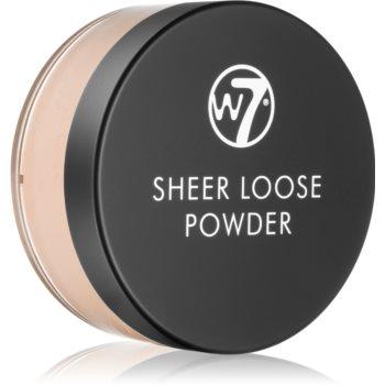 W7 Cosmetics Sheer Loose pudra pulbere matifianta notino.ro