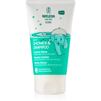 Weleda Kids Magic Mint cremă de duș și șampon pentru copii 2 in 1 imagine 2021 notino.ro