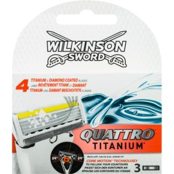 Wilkinson Sword Quattro Titanium rezerva Lama 3 pc imagine 2021 notino.ro