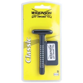 Wilkinson Sword Classic aparat de ras + lame de rezervă 5 bucati imagine 2021 notino.ro