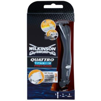 Wilkinson Sword Quattro Titanium Precision aparat de tuns si ras pe parul umed imagine 2021 notino.ro