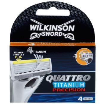 Wilkinson Sword Quattro Titanium Precision rezerva Lama 4 pc imagine 2021 notino.ro