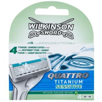 Wilkinson Sword Quattro Titanium Sensitive rezerva Lama imagine 2021 notino.ro