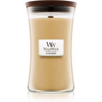 Woodwick At The Beach lumânare parfumată cu fitil din lemn notino.ro