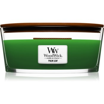 Woodwick Palm Leaf lumânare parfumată cu fitil din lemn (hearthwick)