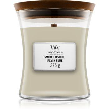Woodwick Smoked Jasmine lumânare parfumată cu fitil din lemn