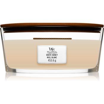 Woodwick White Honey lumânare parfumată cu fitil din lemn (hearthwick) notino.ro