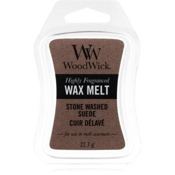 Woodwick Stone Washed Suede ceară pentru aromatizator
