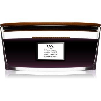 Woodwick Velvet Tobacco lumânare parfumată cu fitil din lemn (hearthwick)