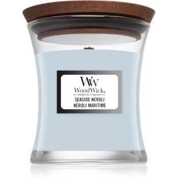 Woodwick Seaside Neroli lumanare parfumata cu fitil din lemn image0