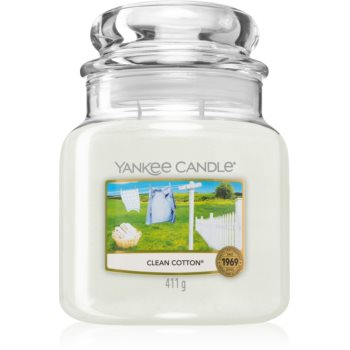 Yankee Candle Clean Cotton lumânare parfumată imagine 2021 notino.ro
