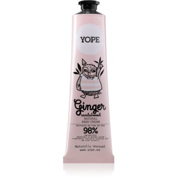 Yope Ginger & Sandalwood crema de maini nutritie si hidratare notino.ro