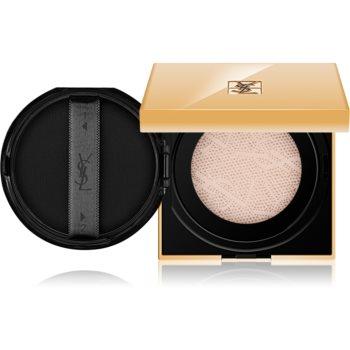 Yves Saint Laurent Touche Éclat Le Cushion rozjasňující tekutý make-up v houbičce odstín B 60 Amber